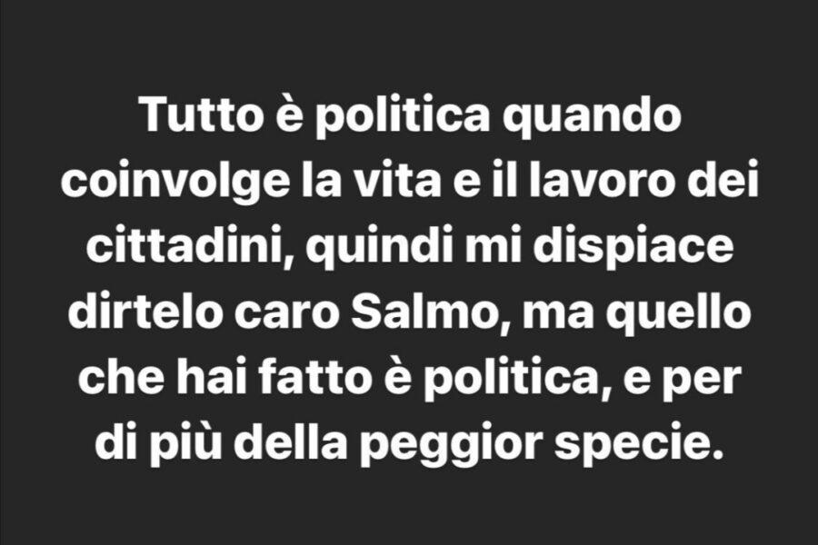 SALMO fornisce chiarimenti sul CONCERTO organizzato ad Olbia. ACCUSE ed offese PESANTI a FEDEZ.