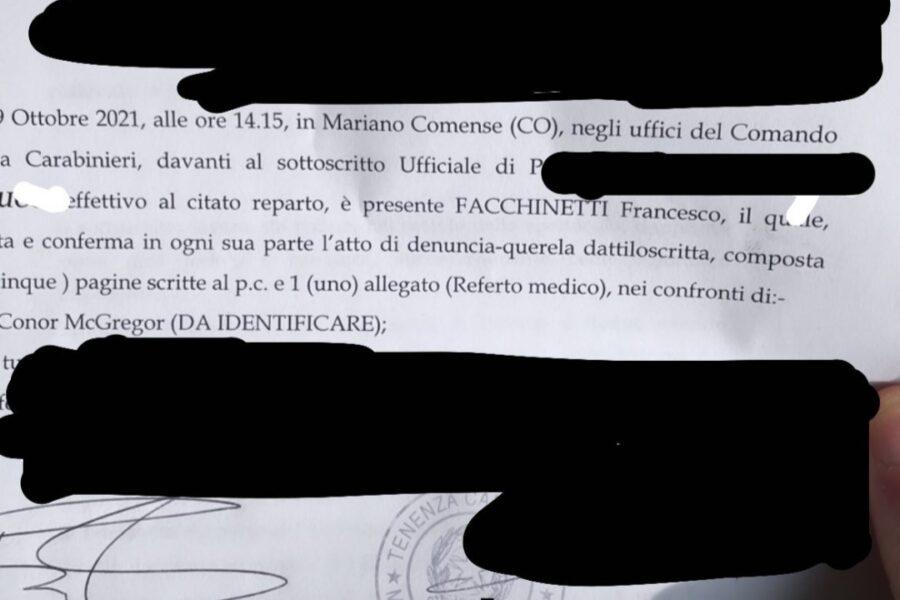 Facchinetti : Conor è da FERMARE SUBITO !!!